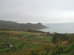 瀬戸内海向け古い畑、手島。Seto Inland Sea-facing terraced rice fields, some in a state of disrepair.
