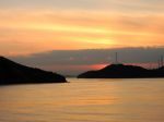 瀬戸内海の景色。Sunset on the Seto Inland Sea.